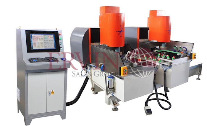 CNC Glass Corner Edging Machine (Two Spindle)