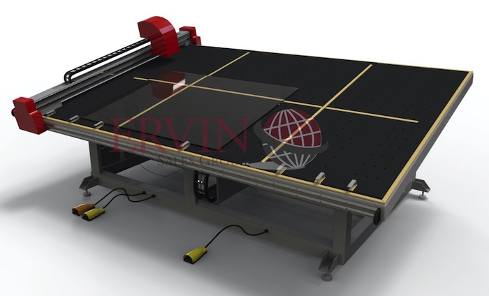 CNC Glass Tilting Cutting Table XY and Shape