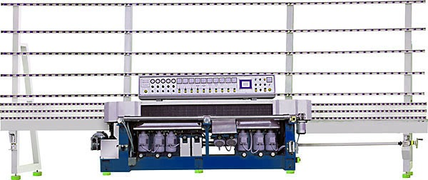 12 spindle Polishing/Miter machine with PLC