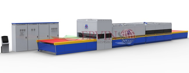 Double Direction Flat / Bent Glass Tempering Furnace