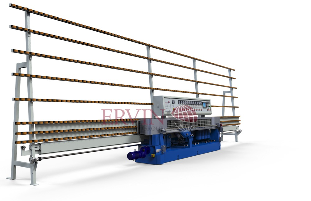 10 spindle Glass Edging/Miter machine