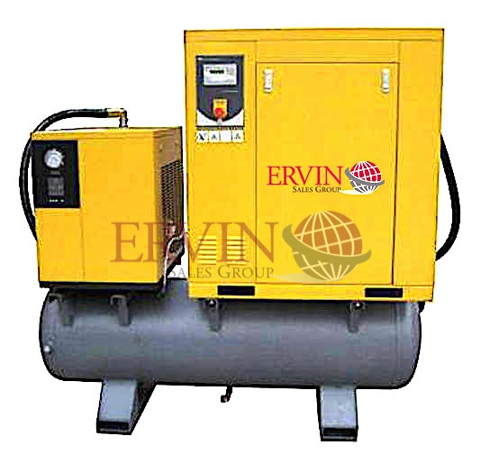 Rotary Screw Air Compressor Combo Pack (Comp, Dryer, Tank)
