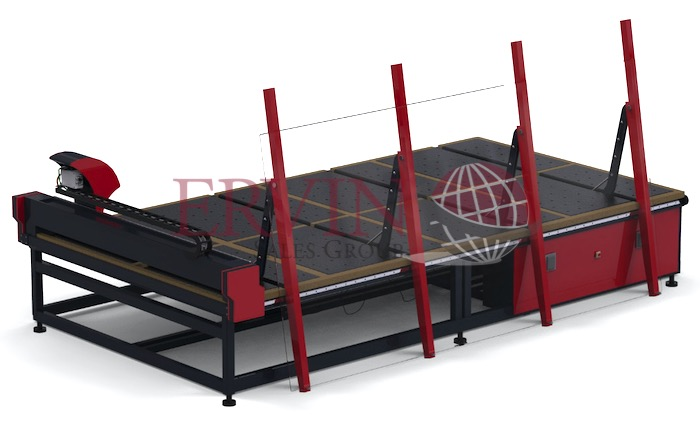 CNC Glass Cutting Table XY and Shape Loading Arms