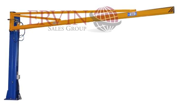 Column Mount Glass Crane
